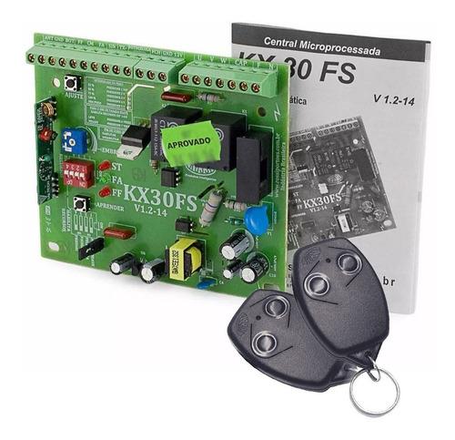 placa motor kx30 fs portão basculante rossi com 2 controles
