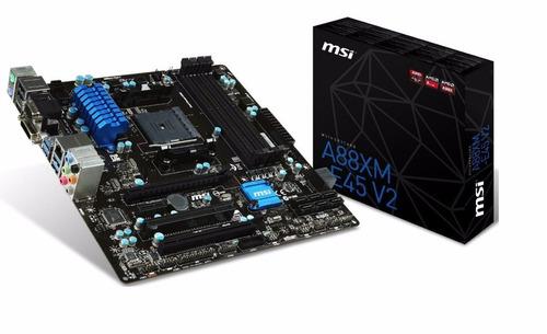 placa msi a88xm-e45 v2 amd socket fm2/fm2+ producto nuevo