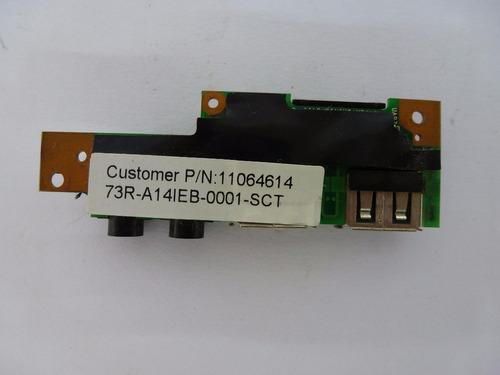 placa multimidia audio/usb positivo unique 73r-a14ieb-0001-s