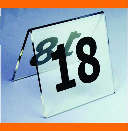 placa número mesa bar restaurante casamento debutante 40 pçs