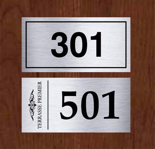 placa número porta apartamento 10x5 em inox