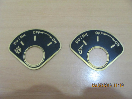 placa on/off p/ jeep  ford  gpw civil ou militar