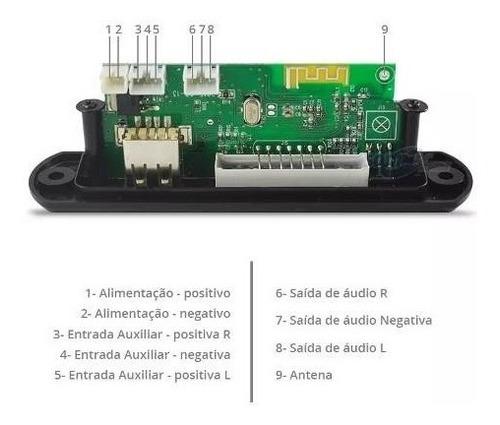 placa p/ amplificador - modulo usb  mp3 bluetooth muda pasta