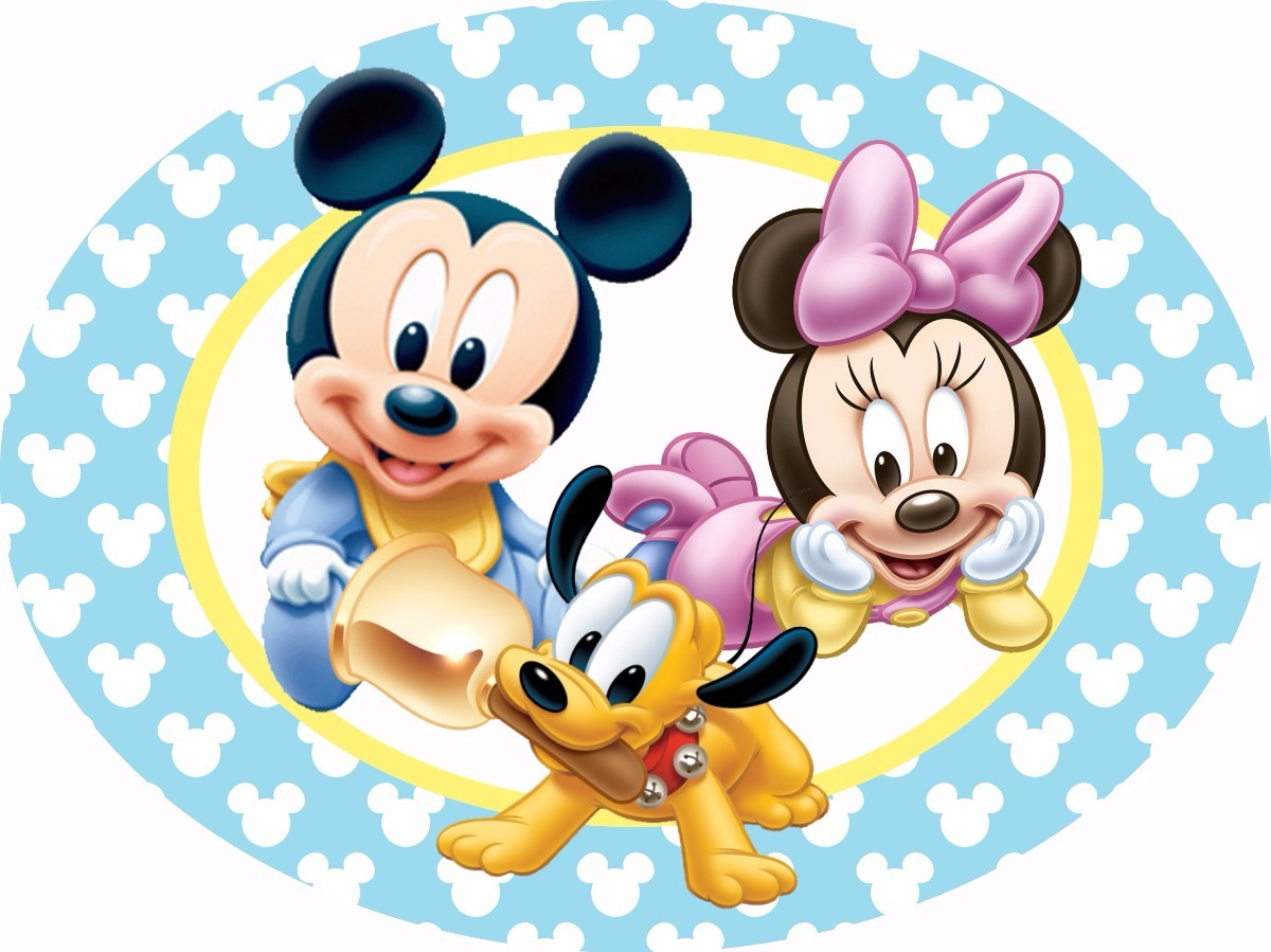 Placa painel elipse mickey minnie baby r 45 90 em mercado livre - Photo minnie et mickey bebe ...