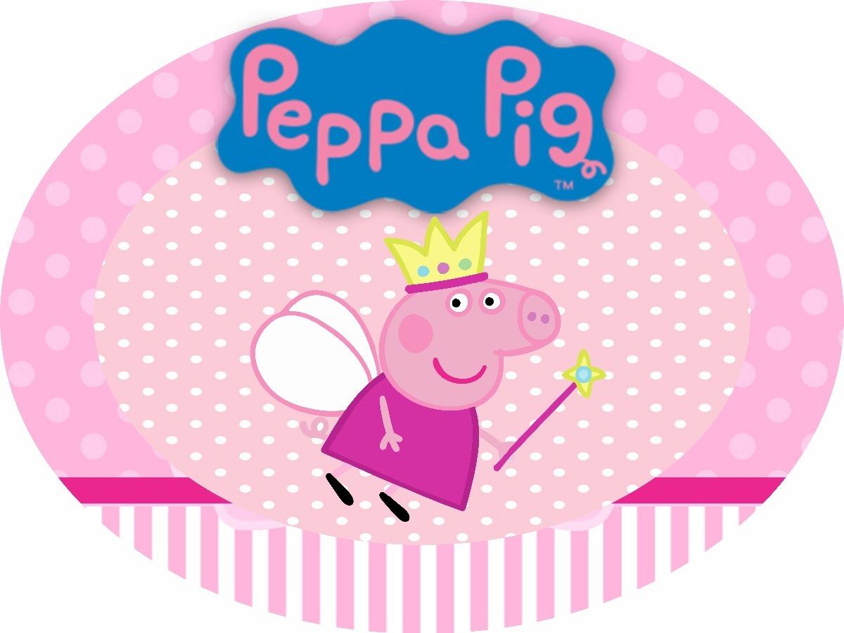 Placa / Painel Elipse Peppa Pig
