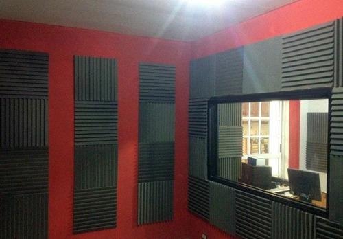 placa panel acustico 40mm con cunias 50x50cm salas de ensayo