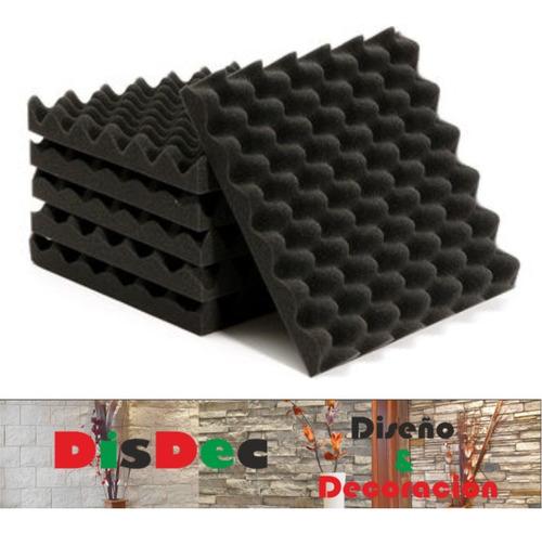 placa panel acústico espuma conos 500 x 500 x 50 mm