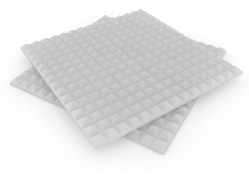placa panel acústico ignifugo piramid premium 610x610x30mm