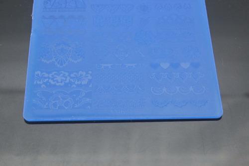 placa para carimbo de unha acrílico plastico xy-k