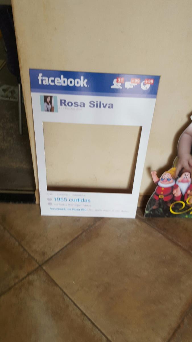 Placa Para Festa Tema Facebook R 45 00 Em Mercado Livre