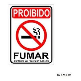 Placa Para Sinalização Proibido Fumar 15x20cm - Pacific
