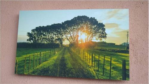 placa parede decoração 29,5cm x 17,5cm paisagem, fazenda