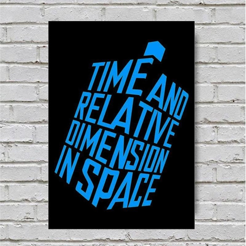 placa parede decorativa dr who time and relative 18x23 novo