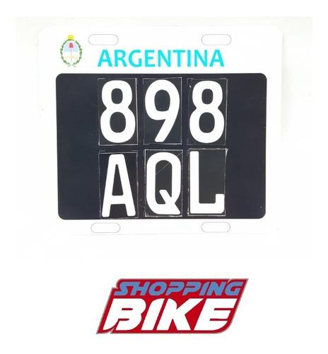 placa patente motos provisoria en el acto shopping bike