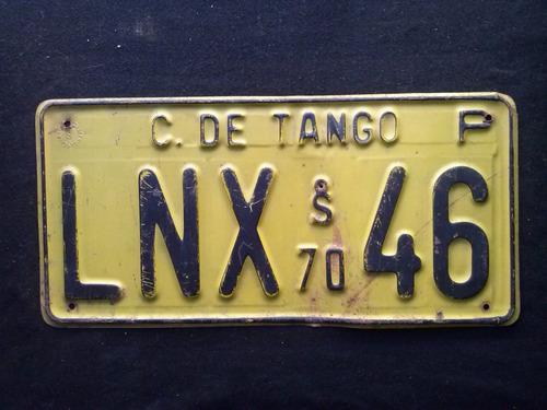 placa patente original c. de tango 1970