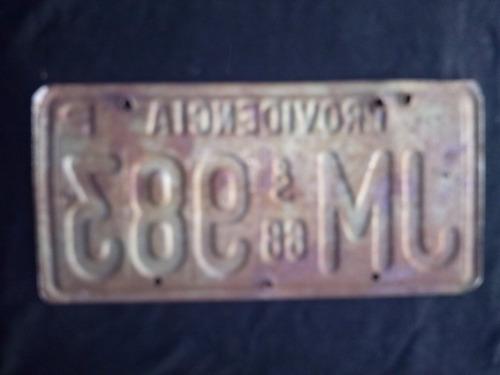 placa patente original providencia 1968