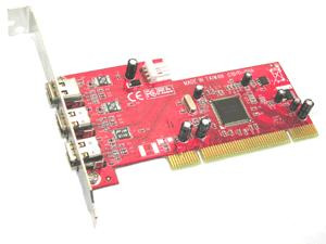 placa pci 3 ports ieee-1394a firewire chipset ti (el mejor)