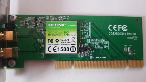 Placa Pci 300mbps Tp-link Tl-wn851nd Wireless Usado Funciona