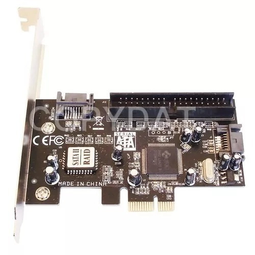 placa pci-e 2 puertos sata 2 3gbps raid + 1 ide chip jmicron