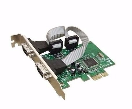 placa pci-e express x1 com 2 portas serial db9 rs232