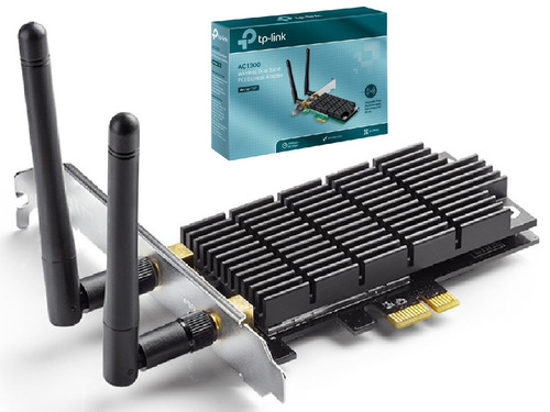 placa pci-e inalambrica tp-link archer t6e ac1300 dualband 1300mbps