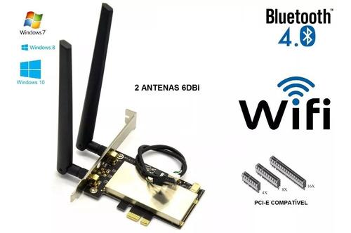 placa pci-e wifi + bluetooth ar5b225 para desktop 2 antenas