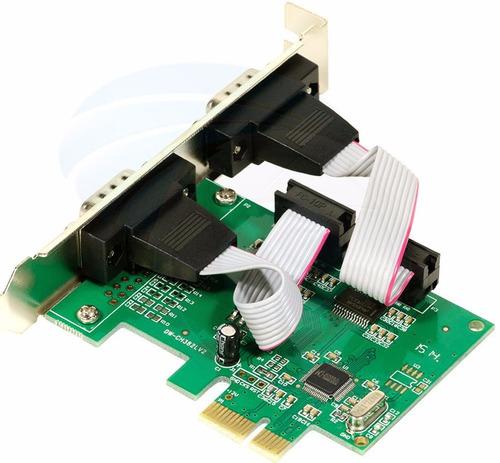 placa pci express 2 puertos serie rs232 db9 impresora fiscal