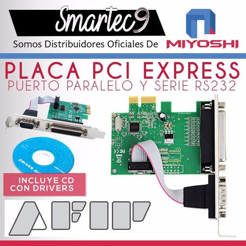 placa pci express puerto serie rs232 db9 paralelo impresora