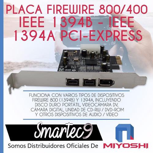 placa pci firewire 800 400 ieee 1394b 1394a pci-e express