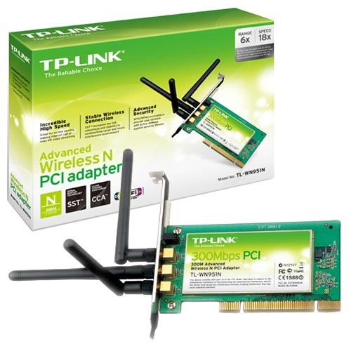 placa pci wi-fi tp-link tl-wn951n increible potencia 3 ant