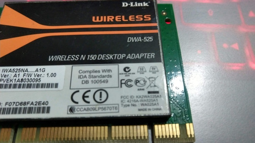 placa pci wireless dwa-525 n150 desktop d-link sem antena