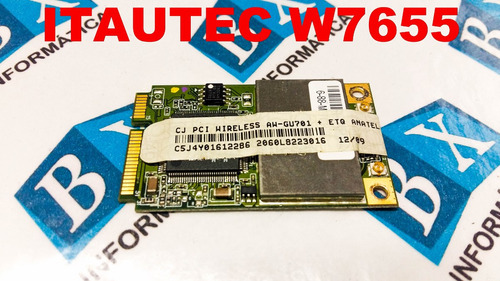 placa pci wireless notebook itautec infoway w7655