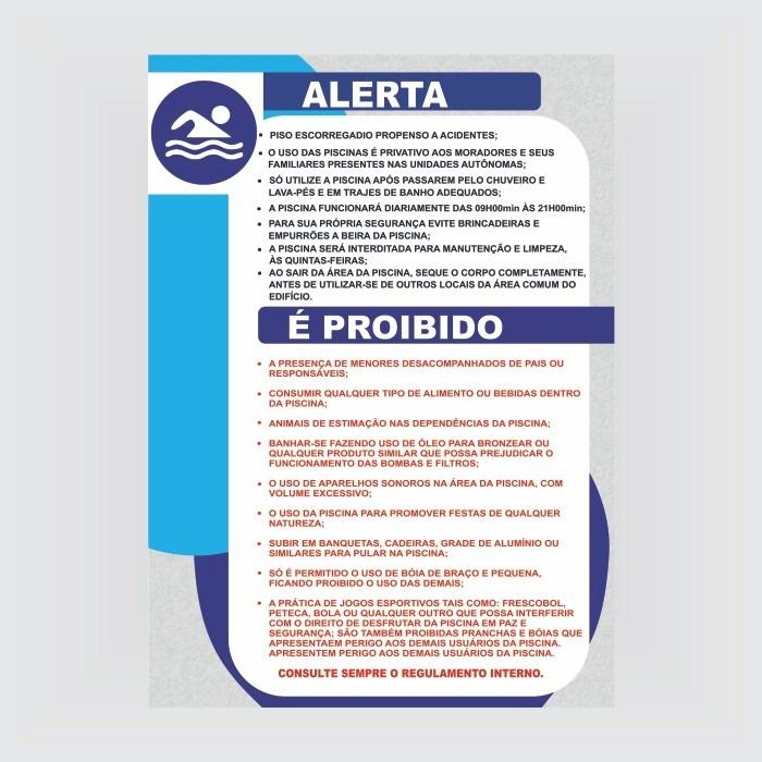Placa piscina normas de seguran a e utiliza o r 95 for Normas de piscina