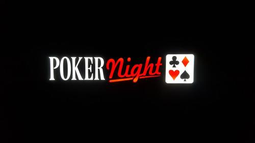 placa poker night stars letreiro luminoso led quadro fichas