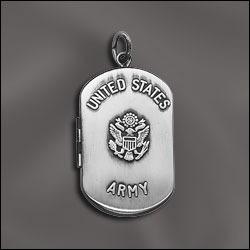 placa porta foto tim plata fina herrete con logo militar usa