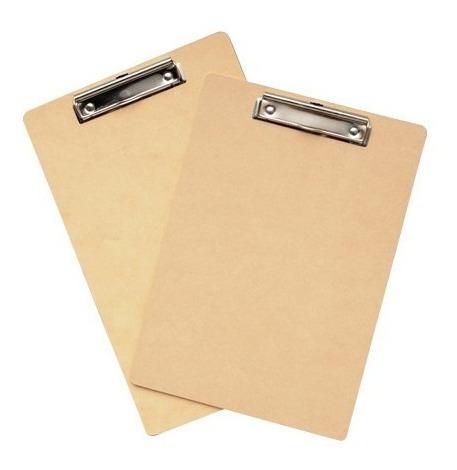 placa portablock madera liggo a4 con clip aprieta papel