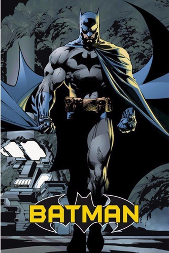 placa poster decorativo metal #29 30x20cms batman comic