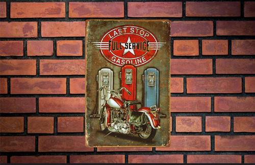 placa poster decorativo metal ms#57 30x20cm ultima estación