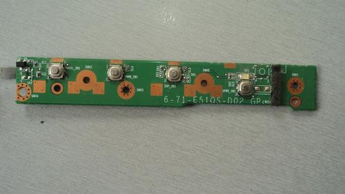 placa power notebook itautec 7535 6-71-e510s-d02 gp