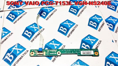 placa power on off sony vaio pcg-7153l vgn-ns240e