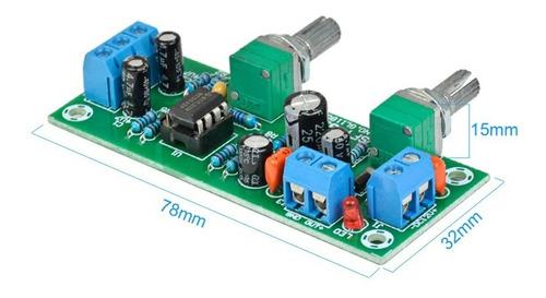 placa pré amplicador sub woofer c/ajuste corte e volume
