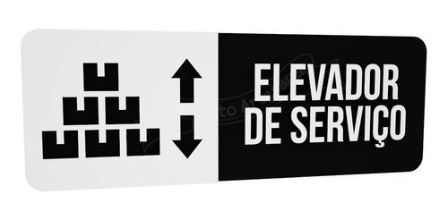 placa preta elevador serviço hotel consultório restaurante
