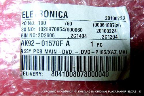 placa principal dvd samsung p185/xaz ak92-01570f ak41-00751