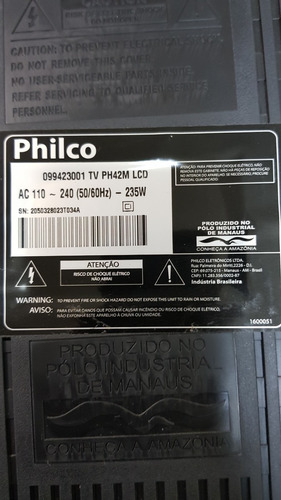 placa principal philco ph42m tem que arrumar o varicap.