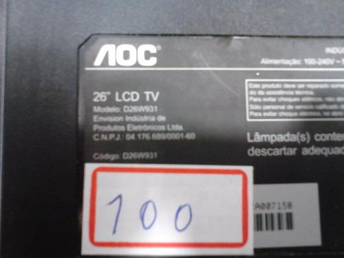 placa principal tv aoc d26w931 715g3787-m02-000-005k ver:a