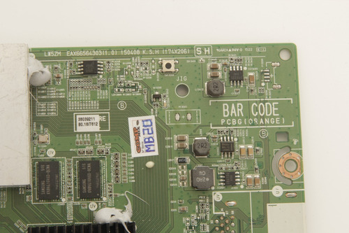 placa principal tv lg 43uf6800 49uf6800 eax66564303 defeito