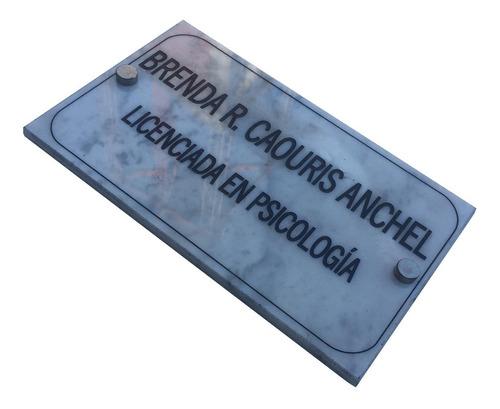 placa profesional granito, estudio juridico, contable 25x15