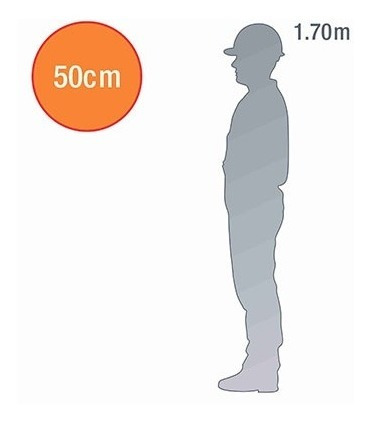 placa proibido virar à esquerda - 50cm diâmetro - pvc 3mm