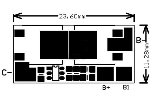 placa proteção bateria li ion bms 2s 8,4v 10a frete r$ 10,00
