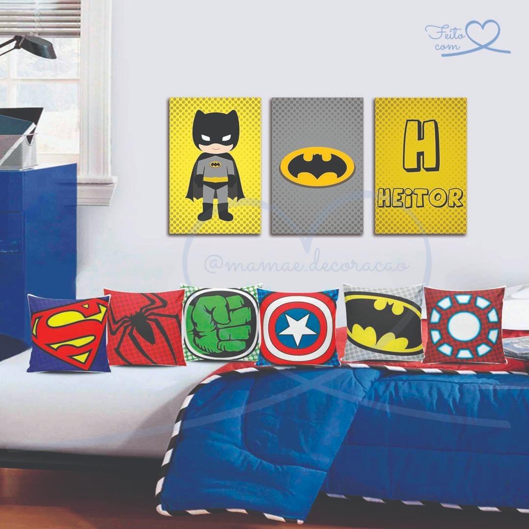 placa quadro decoração infantil quarto bebê heróis baby. Carregando zoom. 061b206da36